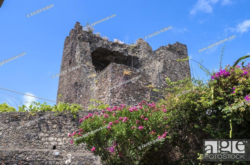 Stock Photo: Norman Castle. Aci Castello, Catania, Sicily, Italy.