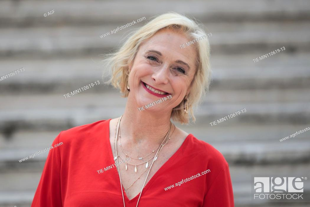 Stock Photo: Caroline Goodall during 'The Elevator' film photocall, Rome 11/06/2019.