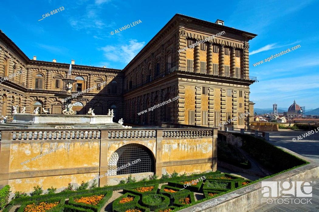 Stock Photo: Pitti Palace. Florence. Tuscany. Italy.