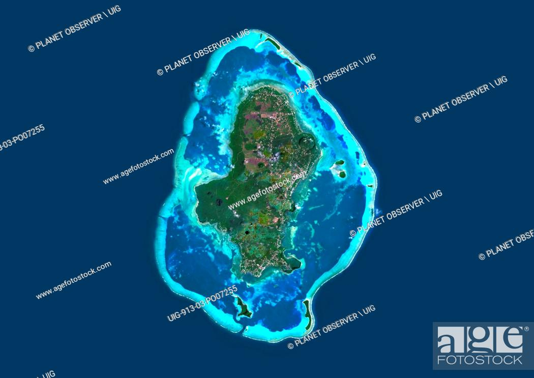 Imagen: Satellite view of Wallis Island, part of Wallis and Futuna Islands. This image was compiled from data acquired by Landsat 8 satellite in 2014.