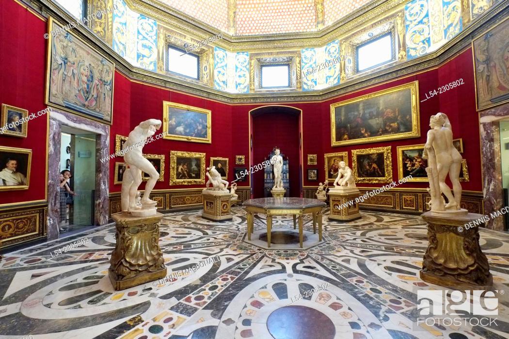 Stock Photo: Uffizi Gallery Florence Italy IT Renaissance EU Europe Tuscany.