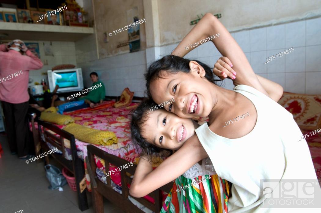 Stock Photo: Girl in Phnom Penh, Cambodia.