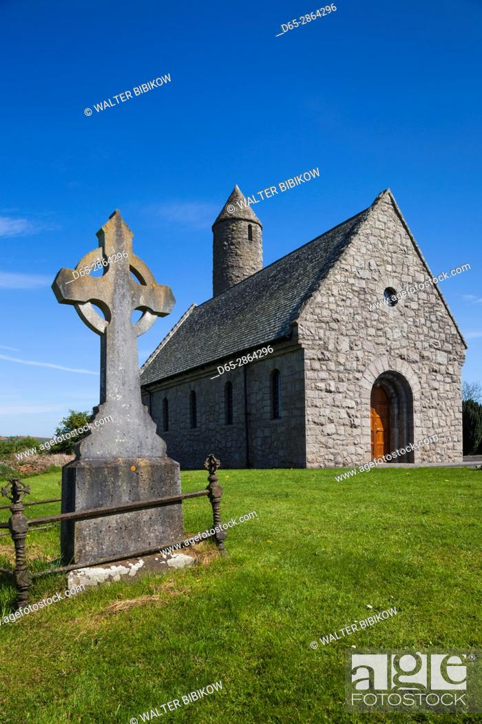 Stock Photo: UK, Northern Ireland, County Down, Saul, Saul Church, site of the first Christian convert in Ireland made by St. Patrick.