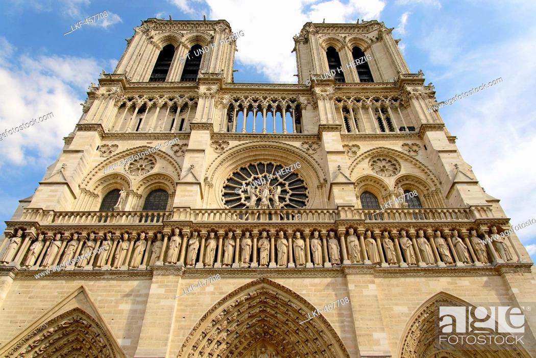 Stock Photo: Notre-Dame Cathedral, Paris, France, Europe.