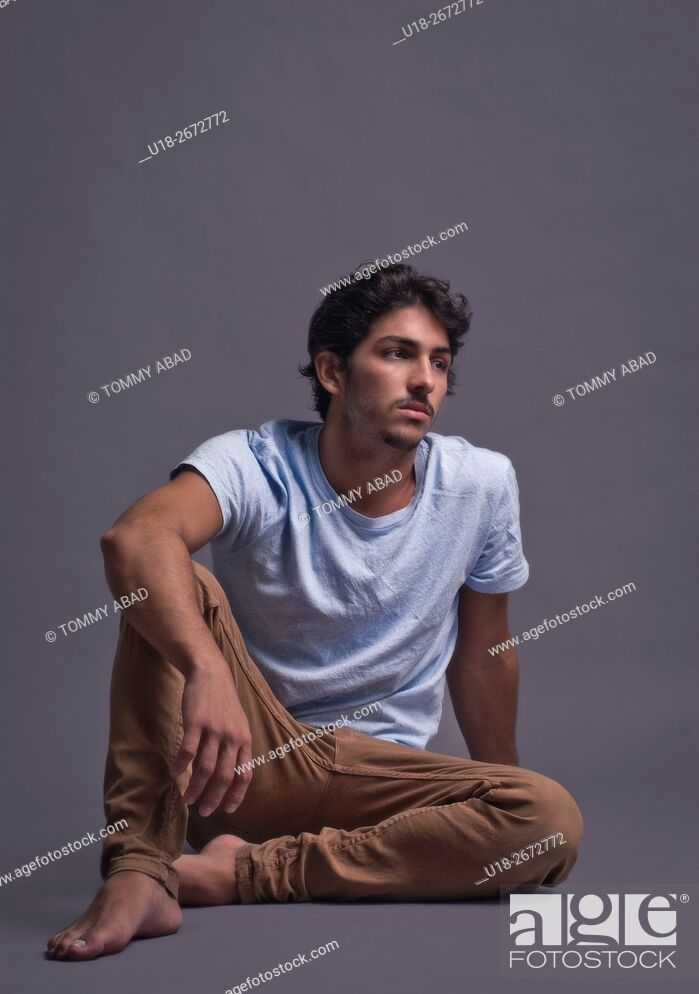 Stock Photo: Young handsome man.