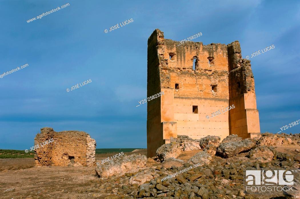Stock Photo: Roman Iberian city of Castulo, Castle of Santa Eufemia, Linares, Jaen province, Region of Andalusia, Spain, Europe.