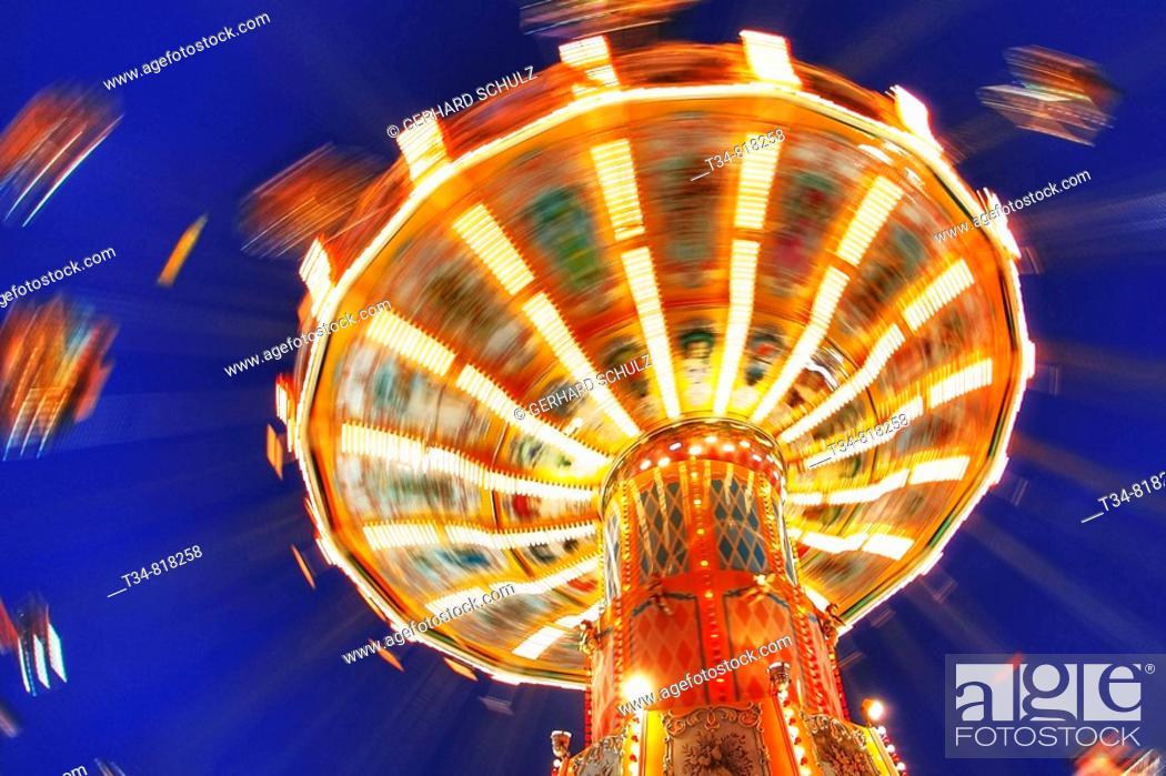 Stock Photo: Flying chairs, Hamburg, Germany.