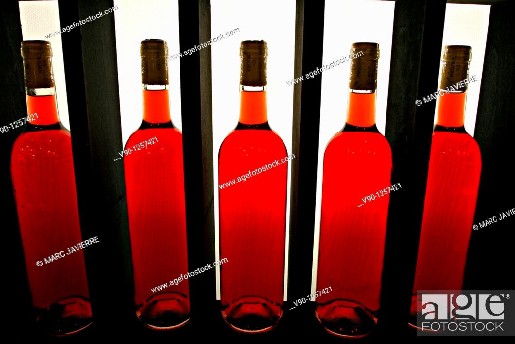 Stock Photo: Bottles of wine.
