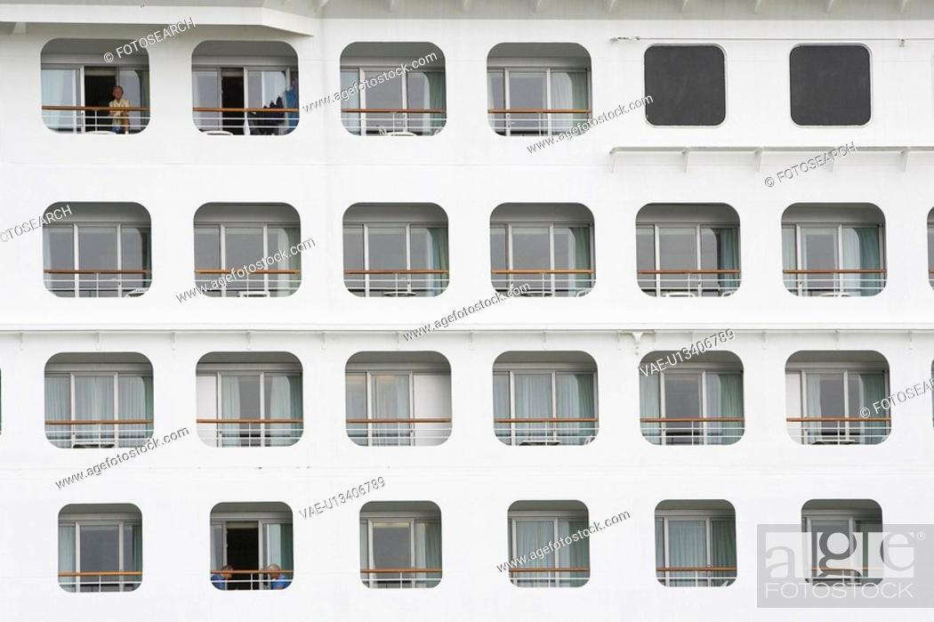 Stock Photo: Close-Up, Cruise Ship, Day, Full Frame, Glass.