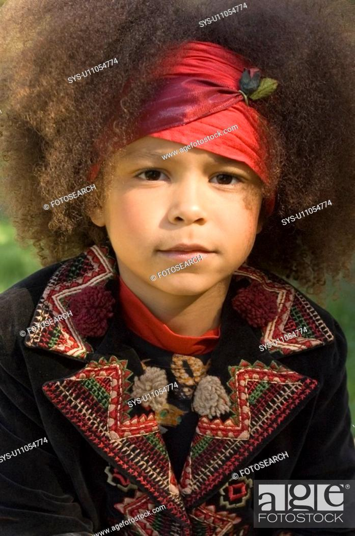 Stock Photo: Portrait of young African American.