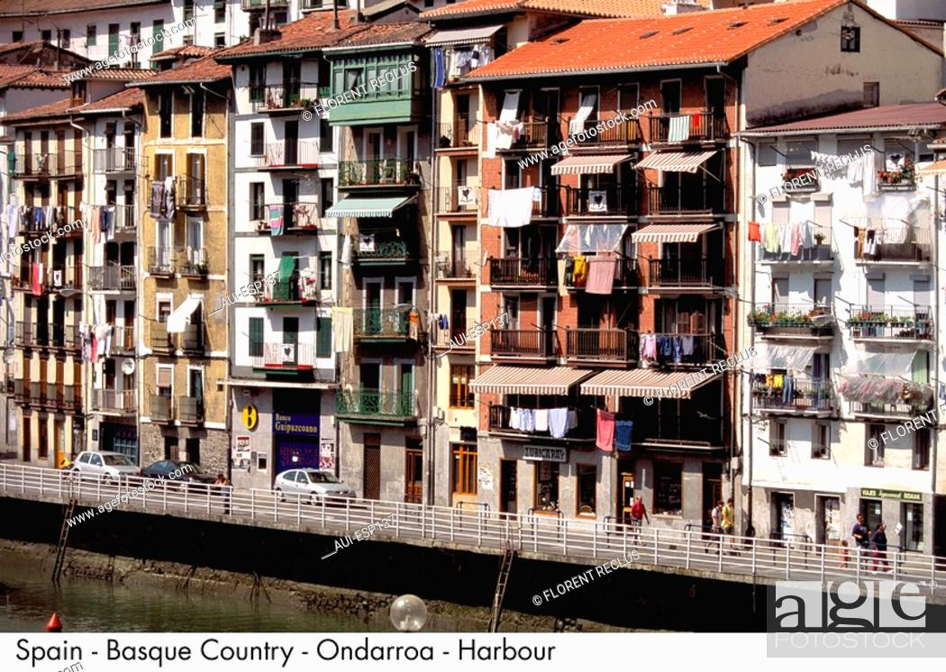 Stock Photo: Spain - The Basque country - Ondarroa - Harbour Spain.