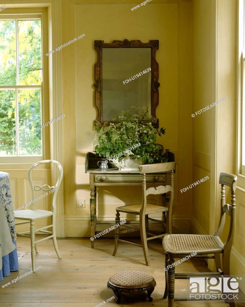Wooden Flooring In Regency Dining Room
