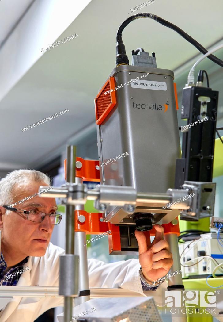 Stock Photo: Spectral Camera, Computer Vision Laboratory, Smart Systems, Industry Unit, Technology Centre, Tecnalia Research & Innovation, Derio, Bizkaia, Basque Country.