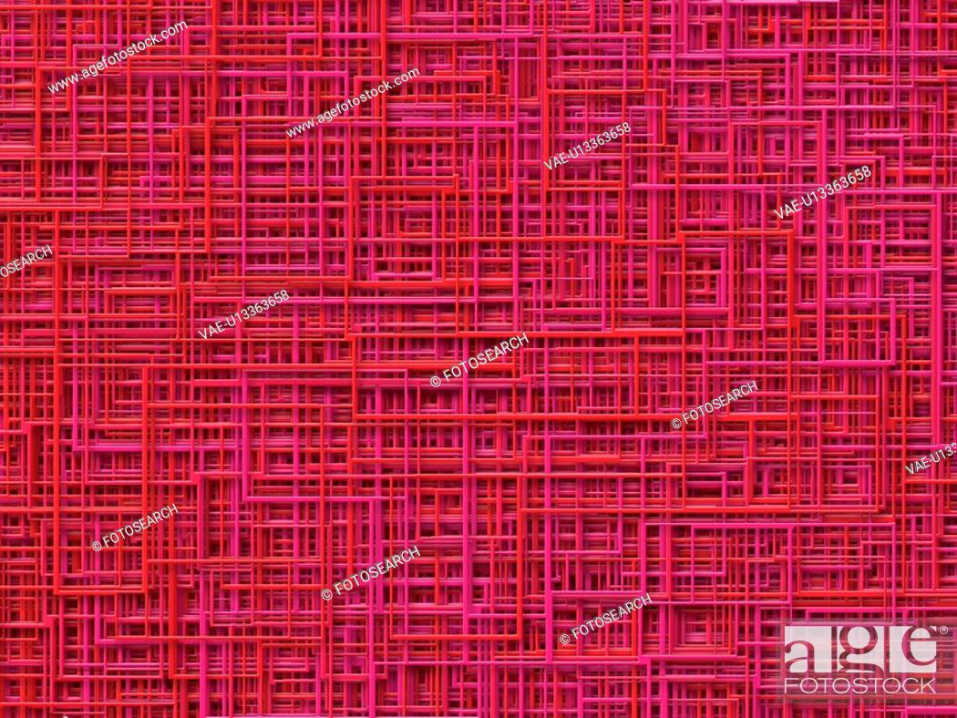 Stock Photo: Pink And Red Lines.