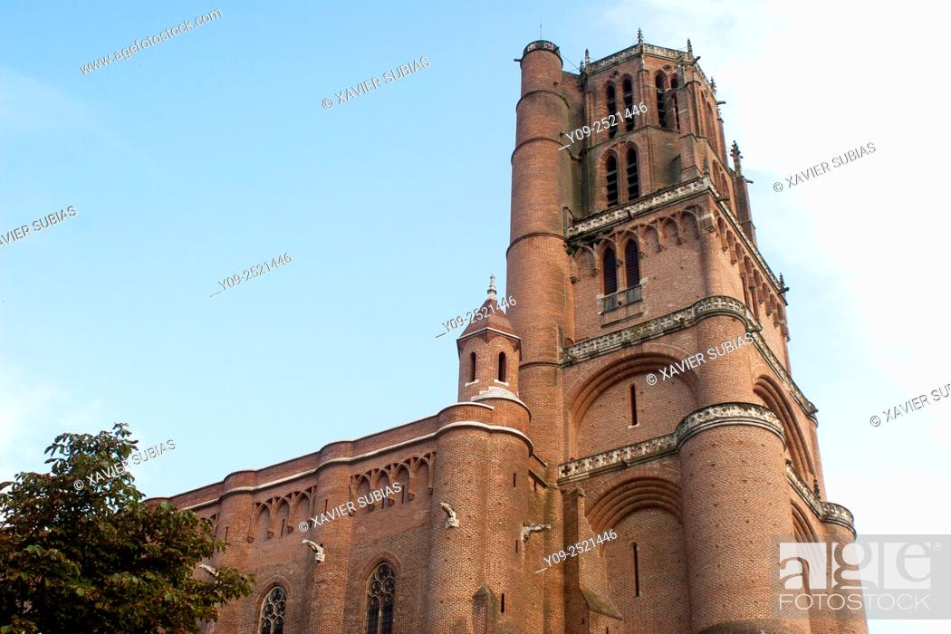 Stock Photo: Sainte-Cécile Cathedral, Albi, Tarn, Midi-Pyrénees, France.