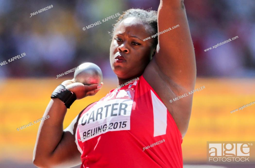 Michelle Carter Athlete >> Michelle Carter Of The Us Competes In The Women S Shot Put