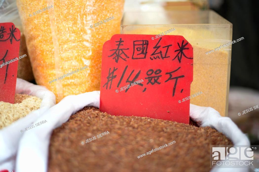 Stock Photo: Central SOHO, Graham Street Market, Hong Kong, China.