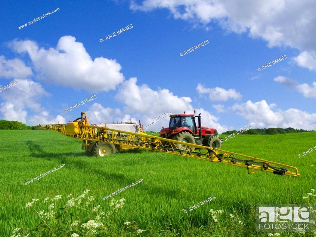 Stock Photo: Tractor in field.