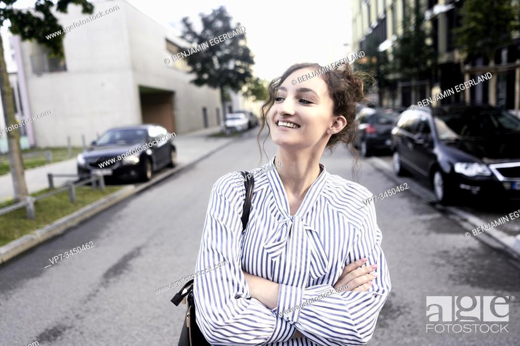 Stock Photo: Portrait of woman. Munich, Germany.