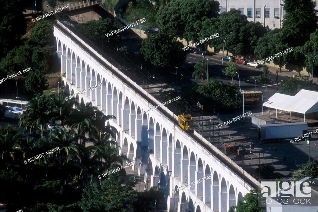 Stock Photo: Center, Arcos da Lapa, Rio de Janeiro, Brazil.
