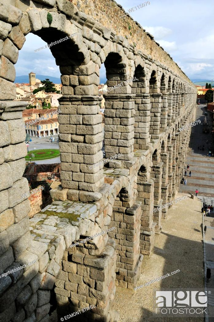 Imagen: roman aqueduct in Segovia, Unesco World Heritage Site, Castile and Leon, Castilla y Leon, Spain, Europe.