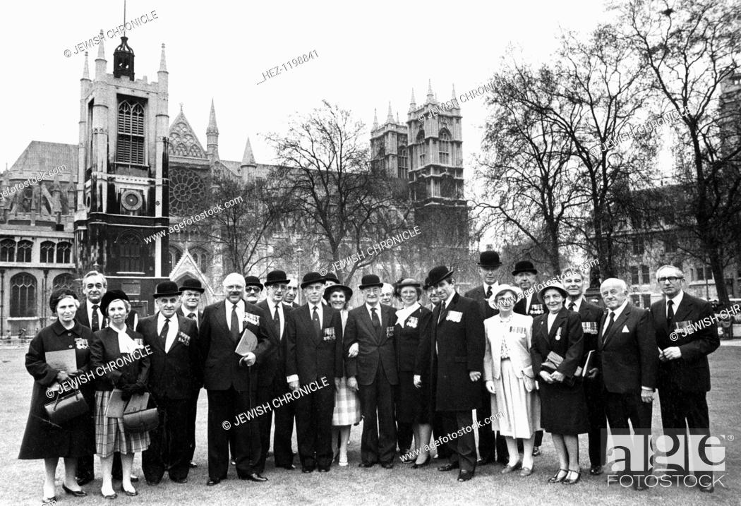 Jewish ex-servicemen and women, London, 17 May 1985  Proudly