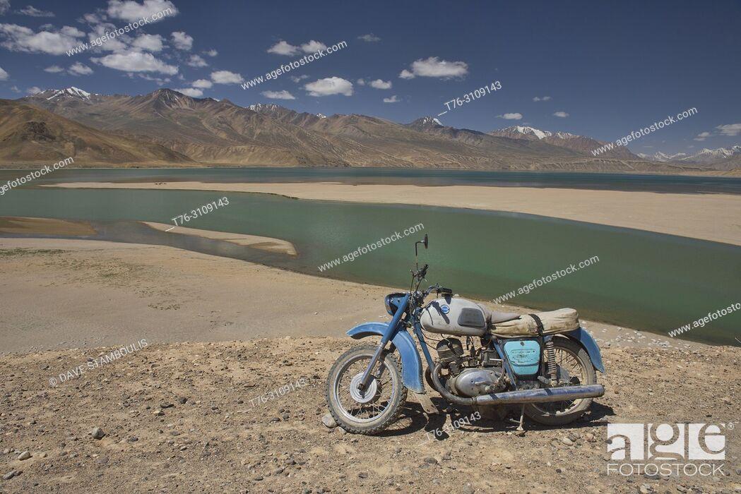 Stock Photo: Emerald Lake Yashilkul, Pamir Highway, Tajikistan.