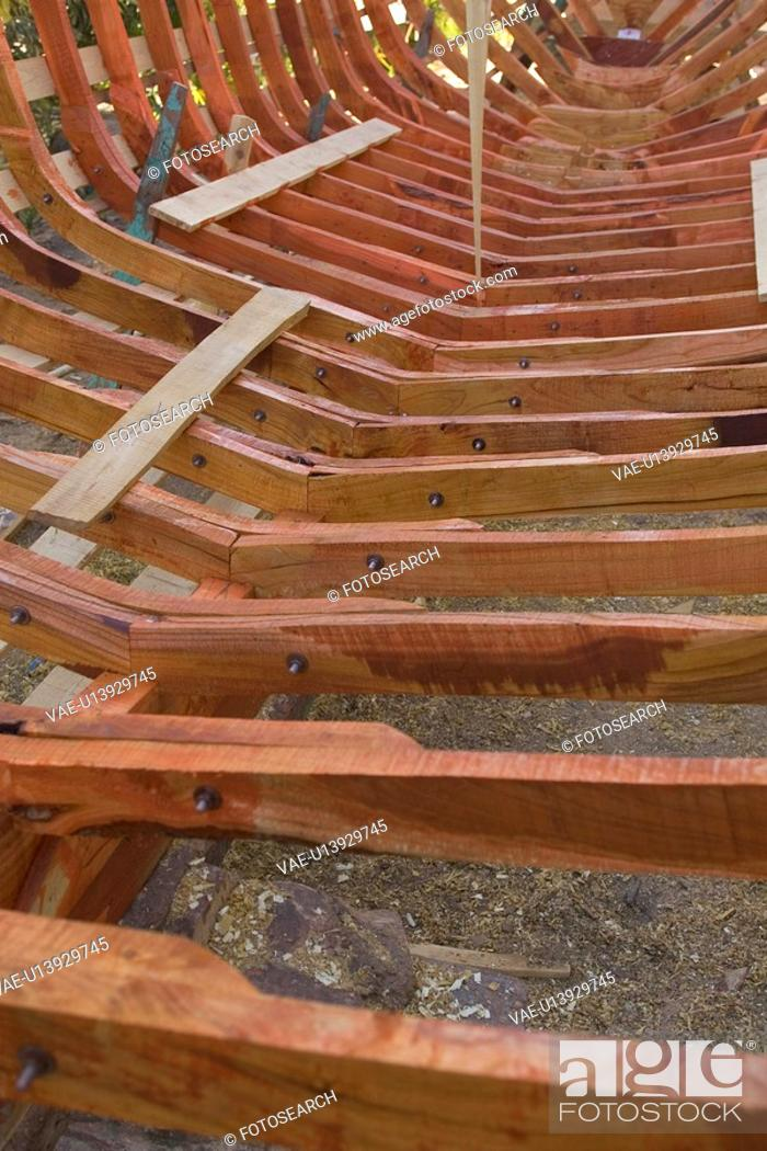 Stock Photo: Boat, Close-Up, Construction Frame, Day, Mode Of Transport.