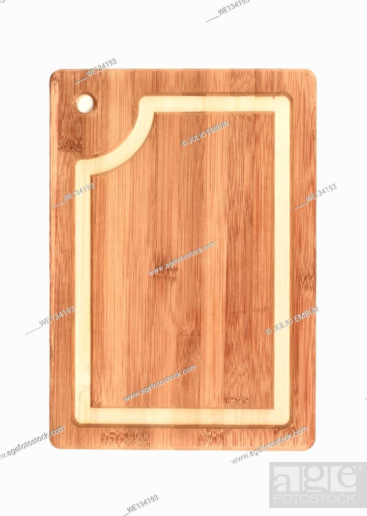 Stock Photo: modern kitchen board isolated on white.