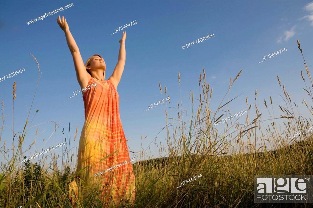 Stock Photo: A moment of joy.