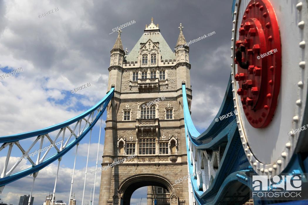 Stock Photo: Tower Bridge. London. England. United Kingdom.