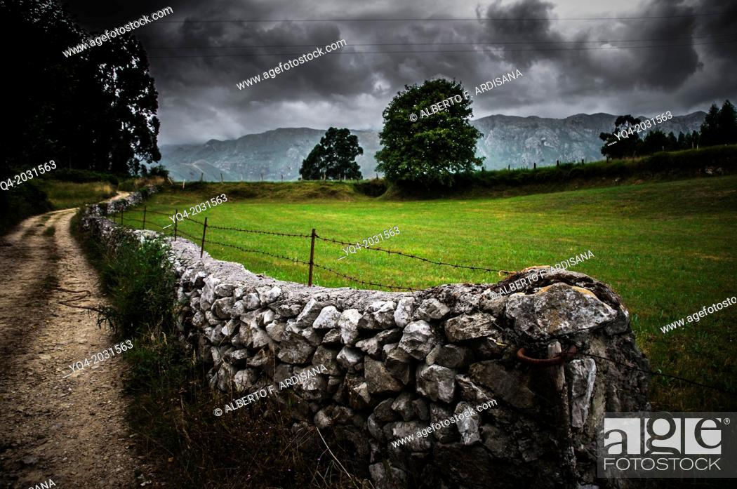 Stock Photo: Landscape of eastern Asturias. Llanes, Spain.