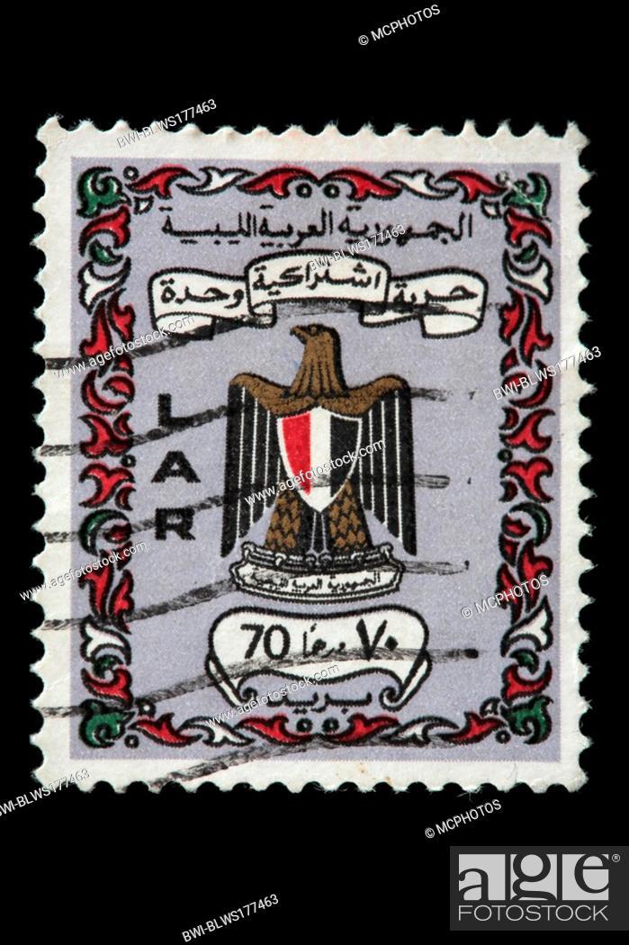 Stock Photo: Postage stamp, Libya, Libya.