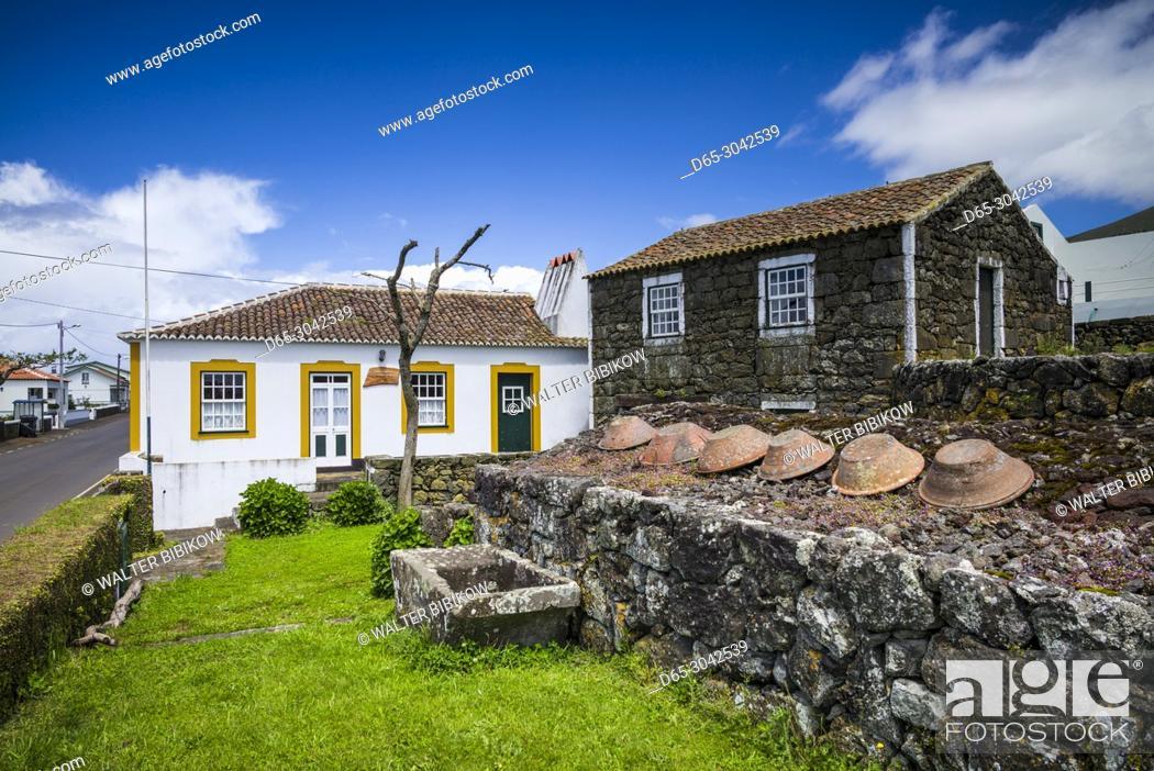 Stock Photo: Portugal, Azores, Terceira Island, Doze Ribeiras, ethnographic Museum, exterior.