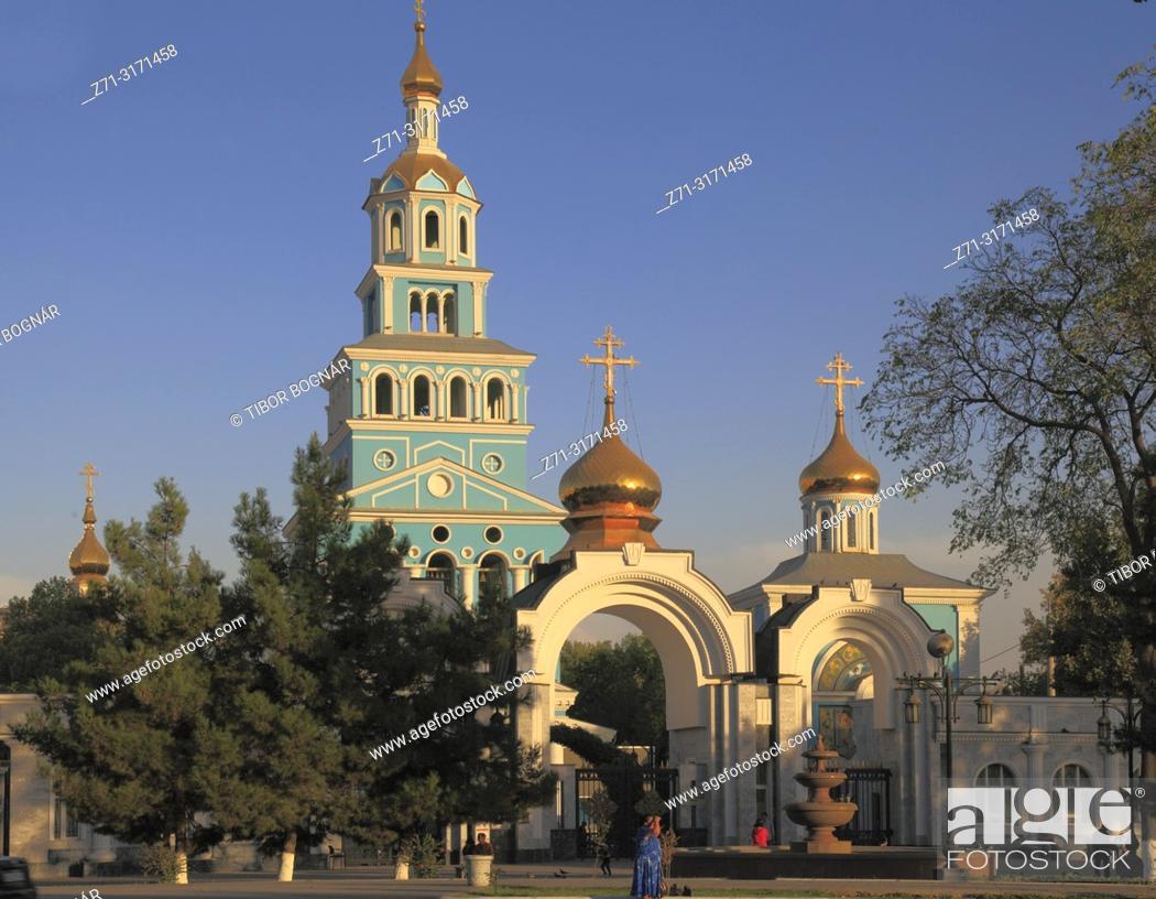 Stock Photo: Uzbekistan, Tashkent, Assumption Cathedral, Russian Orthodox.