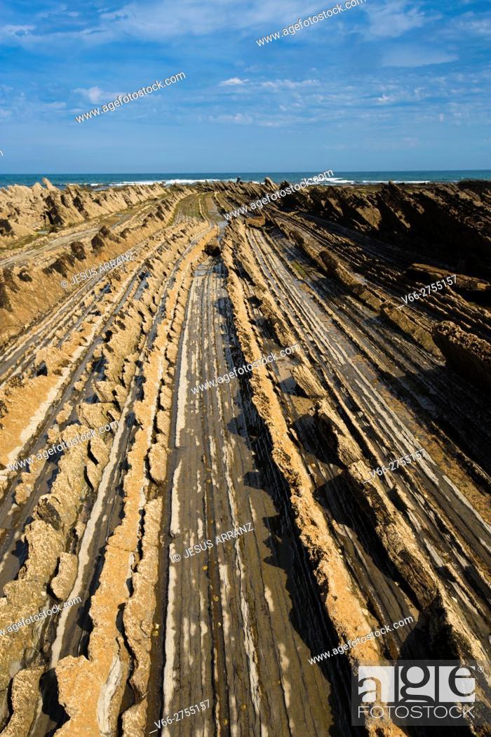 Stock Photo: Zumaia Geoparque.