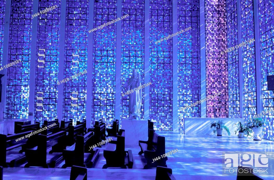 Stock Photo: Blue Church, Sede Ministerio da Justica, Brasilia, Brazil, South America, architecture, colours, blue.