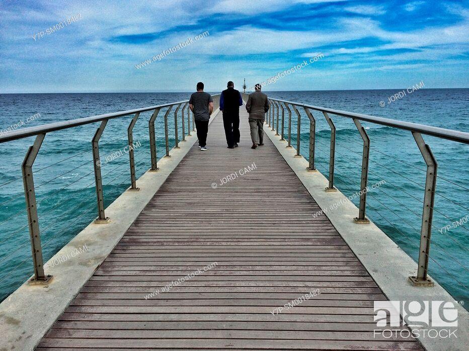 Stock Photo: Pont del Petroli.Badalona.Barcelona province.Catalonia.Spain.