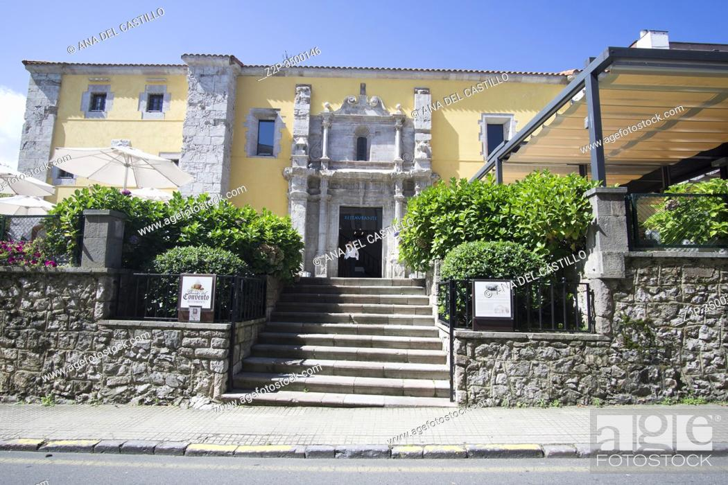 Stock Photo: Llanes Asturias Spain Llanes is one of the most beautiful towns in Spain. The old convent.