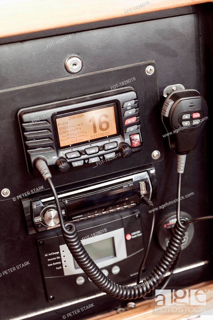 Stock Photo: CB Radio.
