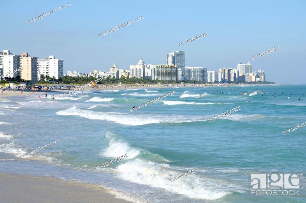 Miami Beach Florida Usa Stock Photo