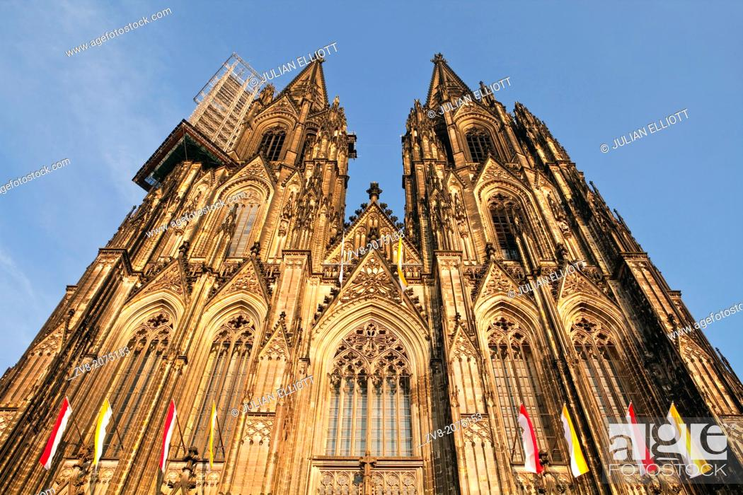 Photo de stock: The west front of Cologne cathedral or the Dom.