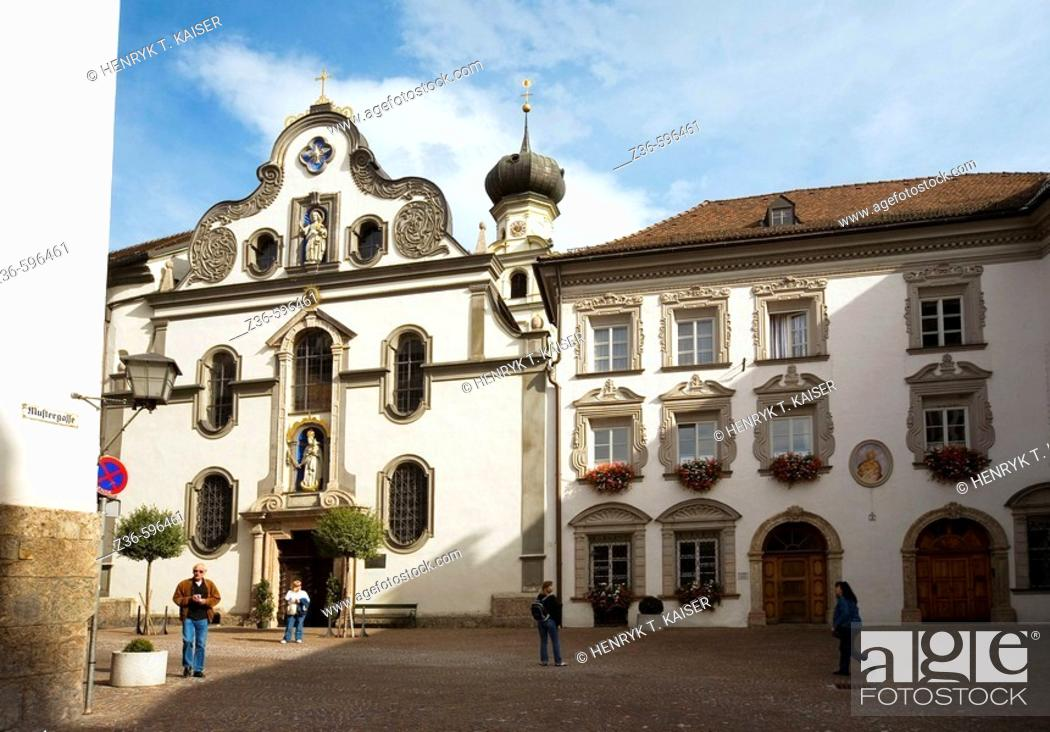 Stock Photo: Hall in Tirol town Austria.