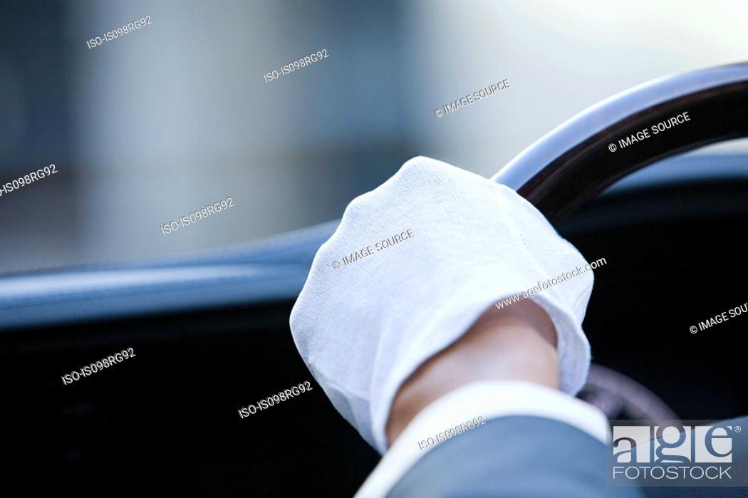 Stock Photo: A chauffeurs glove.