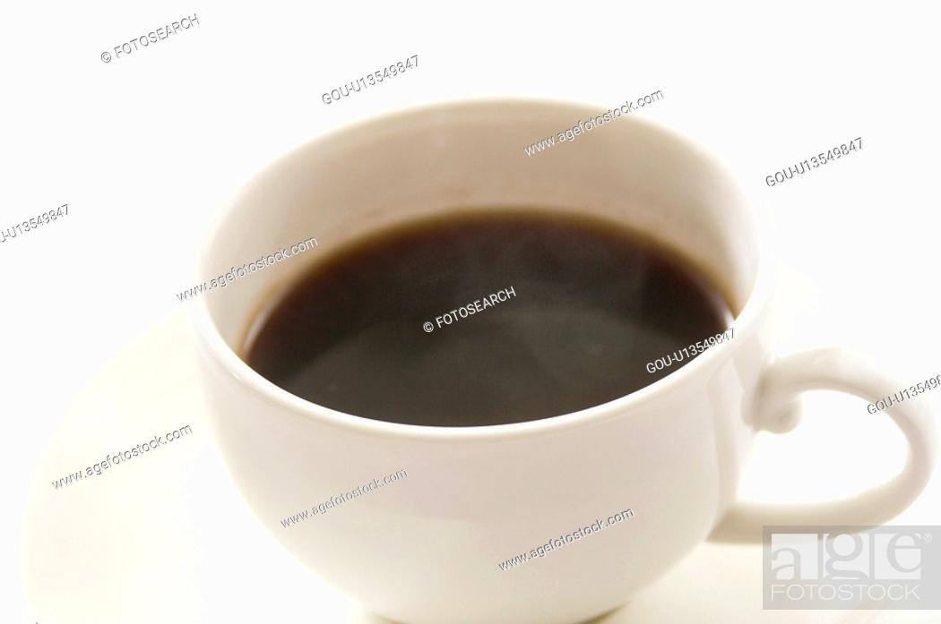 Stock Photo: Coffee in cup.