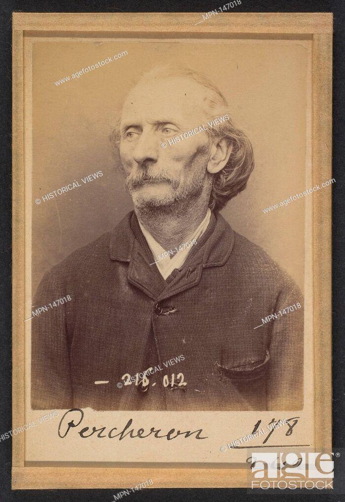 Stock Photo: Percheron. Auguste. 56 ans, né à Poitier (Nièvre). Écrivain public. Anarchiste. 21/3/94. Artist: Alphonse Bertillon (French.