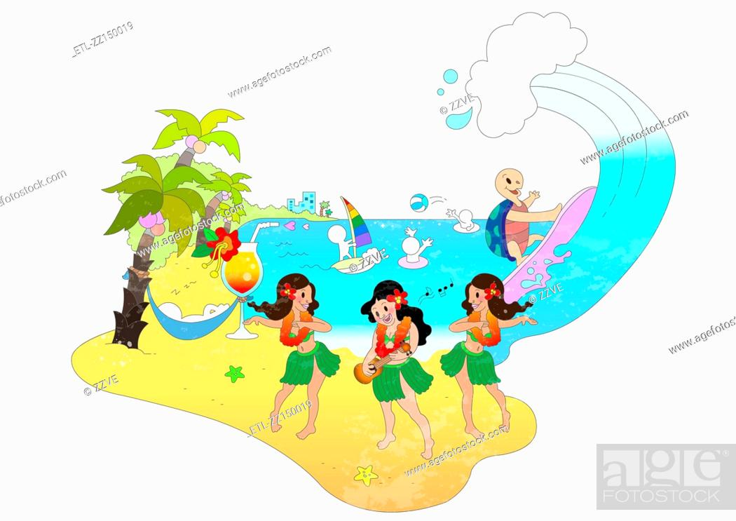 Stock Photo: Attractions of Hawaii.