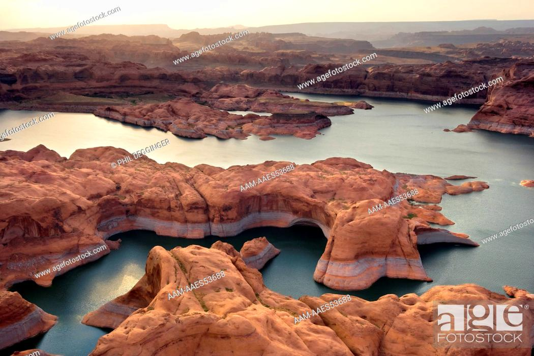 Stock Photo: Meandering Waters of Glen Canyon - Lake Powell.