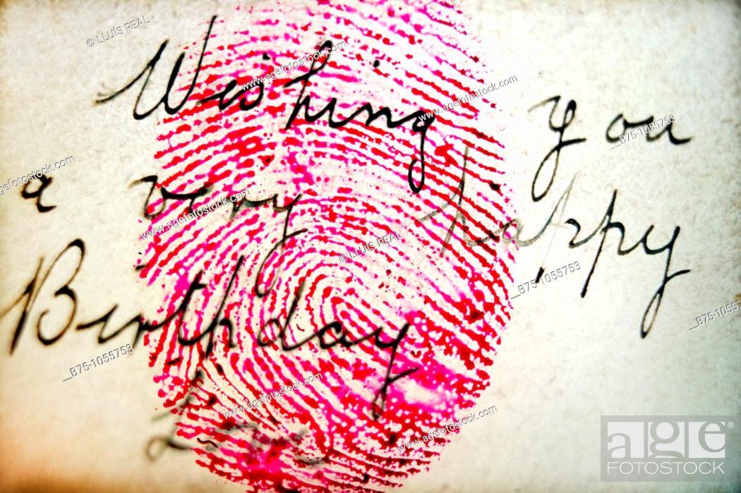 Stock Photo: Fingerprint.