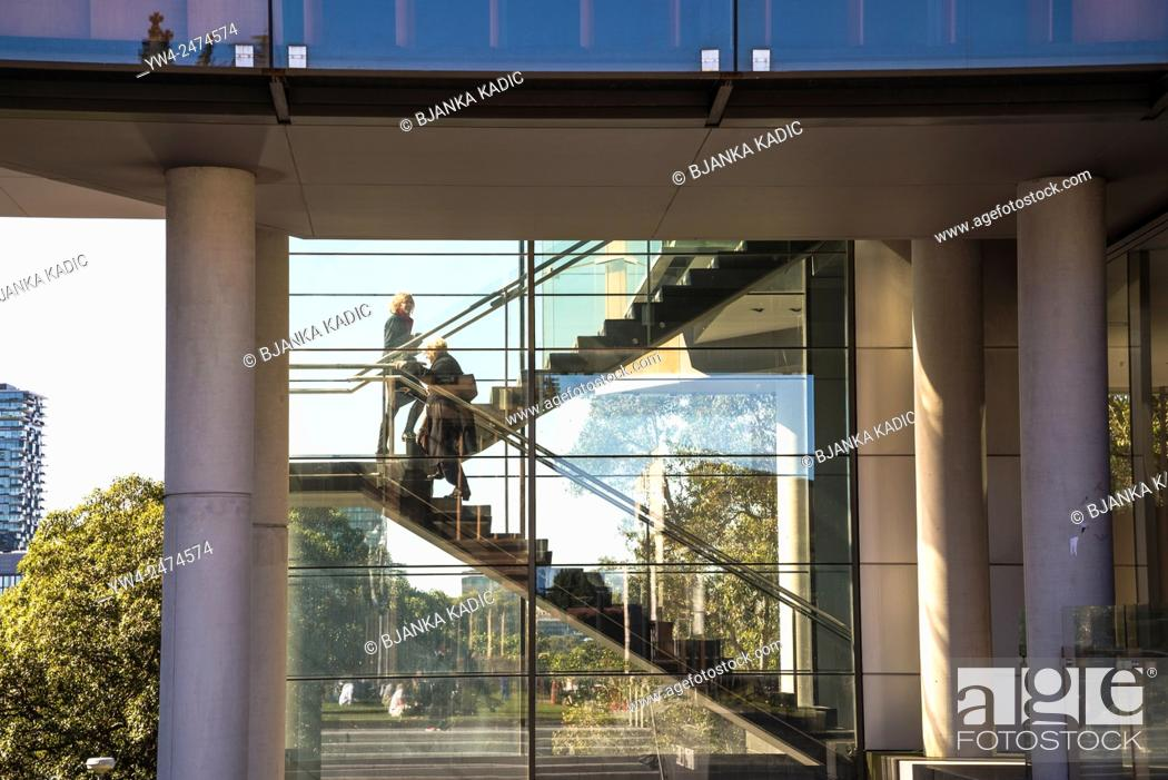 Photo de stock: University of Sydney, Modern extension, Sydney, Australia.